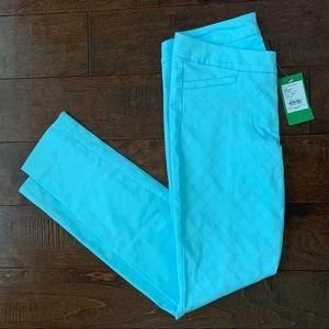 NWT Lilly Pulitzer Aqua Kelly Skinny Pants